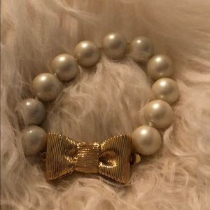 Kate Spade pearl and bow bracelet